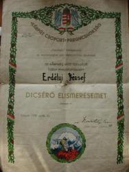 Carpathian Group Diploma from 1939