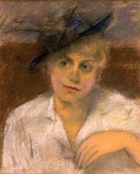 Portrait of Berta Boncza (1815, pastel chalk) by  József Rippl-Rónai