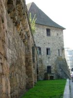 The Bastion of the Tailors with the remaining castle wall in Cluj-Napoca
