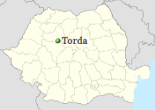 Turda's position on the map of Romania