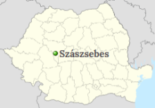 Position of Sebes on the map of Romania
