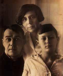 With the family of Dezső Kosztolányi