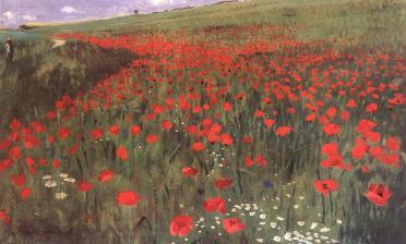 Pál Szinyei Merse: Poppy Field (1896)