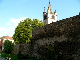 The former city wall in Sebes