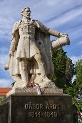 Statue of Áron Gábor in Târgu Secuiesc
