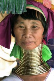 Kayan women with neck rings