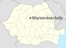 Position of Târgu Mureș on the map of Romania