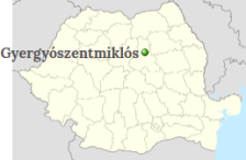 Gheorgheni on the map of Romania
