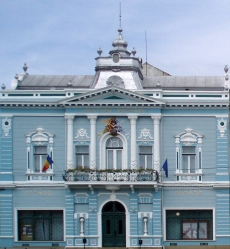 theater on the Main Square of Târgu Secuiesc
