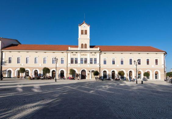The main square of Sfântu Gheorghe