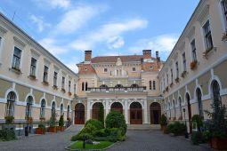 The inner courtyard of the Town Hall, Odorheiu Secuiesc