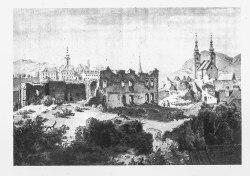 ruins of Odorheiu Secuiesc castle