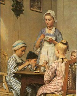 Albert Anker: Children's breakfast