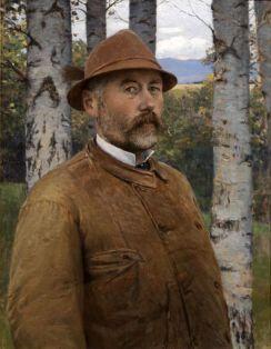 Pál Szinyei Merse - Self-portrait in a leather jacket (1897)