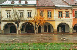 Gothic apartment buildings in Bistrita