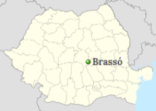 Position of Brasov on the map of Romania