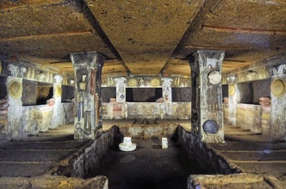 Etruscan rock tomb