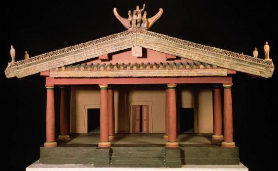 Facade of Etruscan church