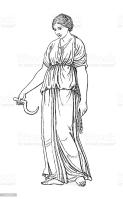 """""""Antique illustration of the Roman goddess Ceres. Published in Systematischer Bilder-Atlas zum Conversations-Lexikon, Ikonographische Encyklopaedie der Wissenschaften und Kuenste (Brockhaus, Leipzig) in 1875."""""""