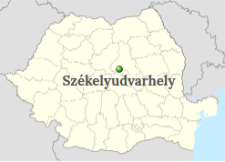 Odorheiu Secuiesc Position on the map of Romania