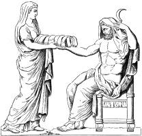 Saturnus and Rhea