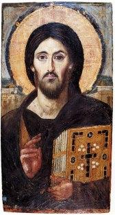 Jesus of Nazareth: 6th century icon in St. Catherine's Monastery in Egypt