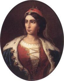 Ilona Zrínyi (painting by Károly Jakobey)