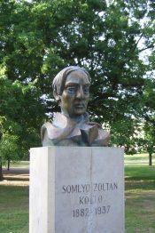 Bust of Zoltán Somlyó in City park, Budapest