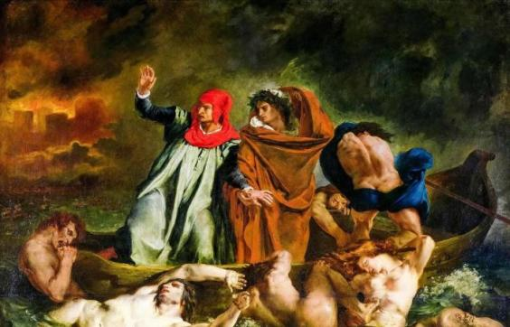 Dante and Virgil's Journey to Hell Picture of Delacroix