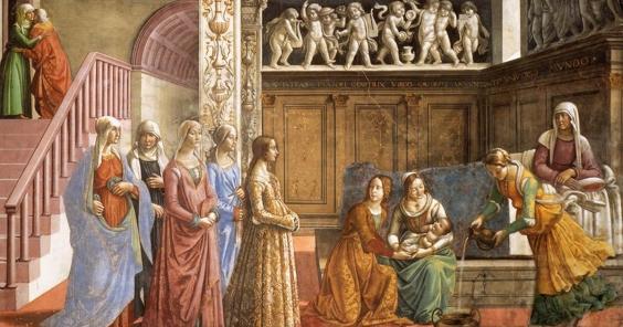 Domenico Ghirlandaio: Birth of Mary