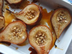 Oven baked pears