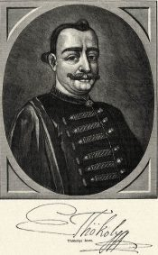 Portrait and signature of Imre Thököly (engraving by P. Schenk)