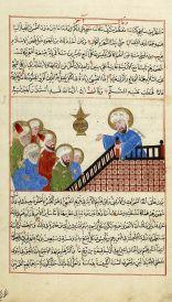 Prophet Muhammad during a sermon